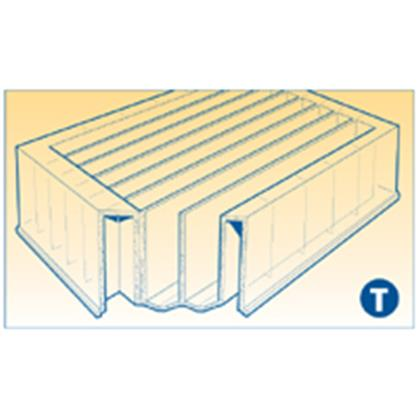 80ml 8-channel high-profile reservoir, 8 x 10ml troughs